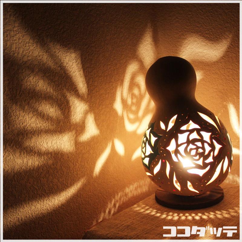 ひょうたんランプ064【薔薇】
