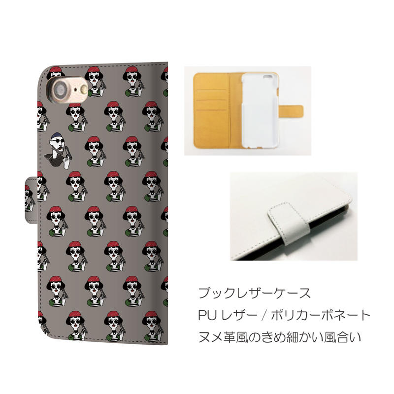 monanas iPhone 手帳型[matilda TOKIDOKI leon]