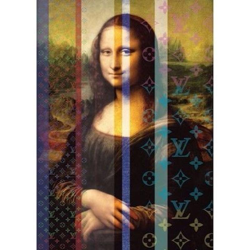 キャンバス410×273×D20mm  【 MONA LISA ART #er01 】