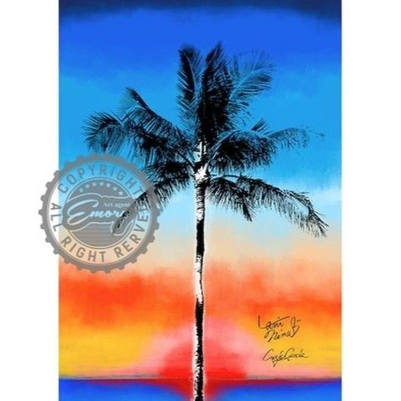 キャンバス 727×530×D20mm 【 One palm tree 】