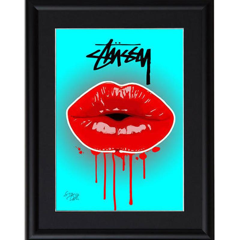 A4 ポスターフレームセット 【 Stussy Lip #td56 】