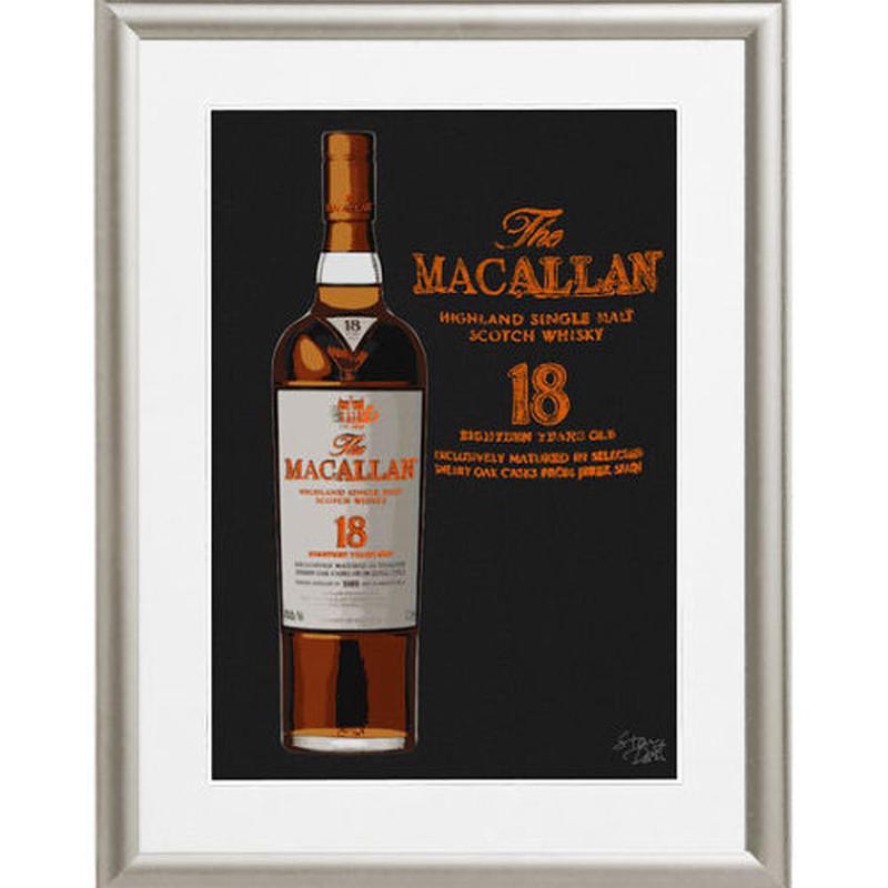 A4 ポスターフレームセット 【 The MACALLAN マッカラン 18年 ポップアート #sh41 】