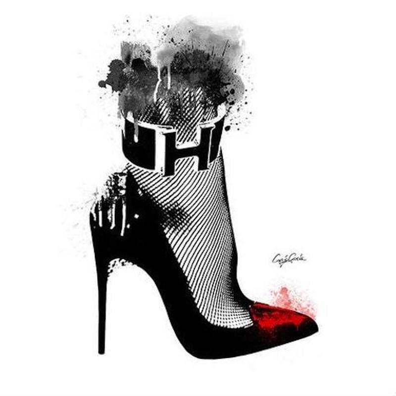 キャンバス 727×530×D20mm 【 High heel 】