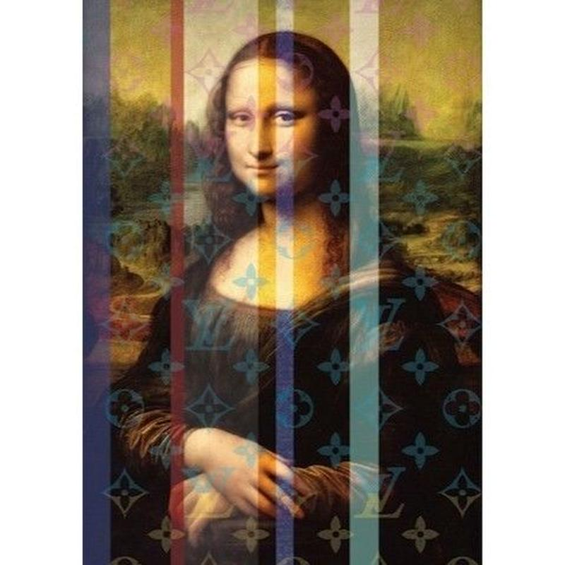 キャンバス410×273×D20mm  【 MONA LISA ART #er02 】