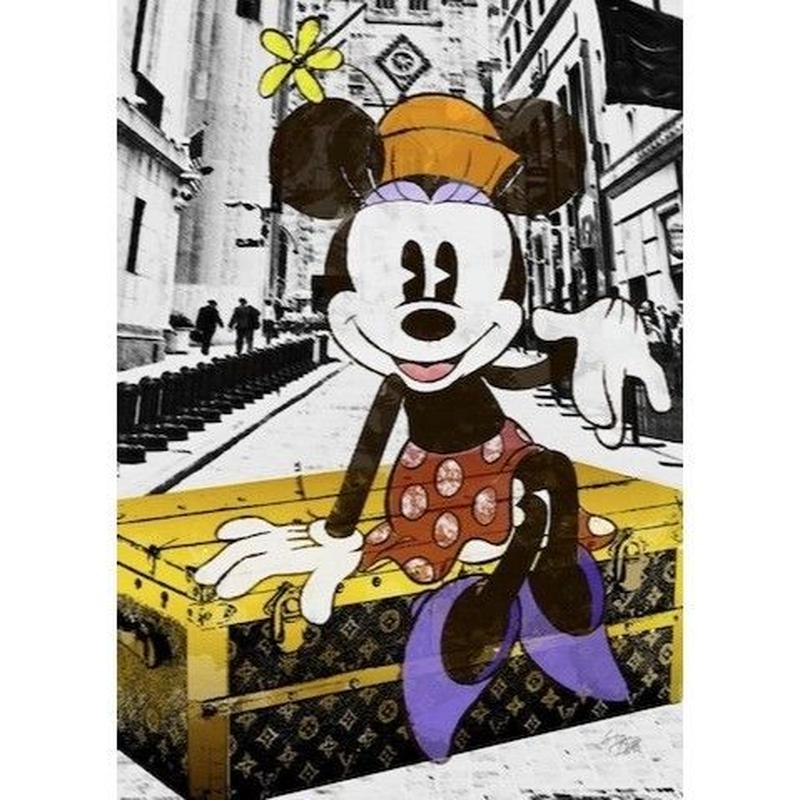 キャンバス410×273×D20mm 【 Minnie NYC #hi02 】
