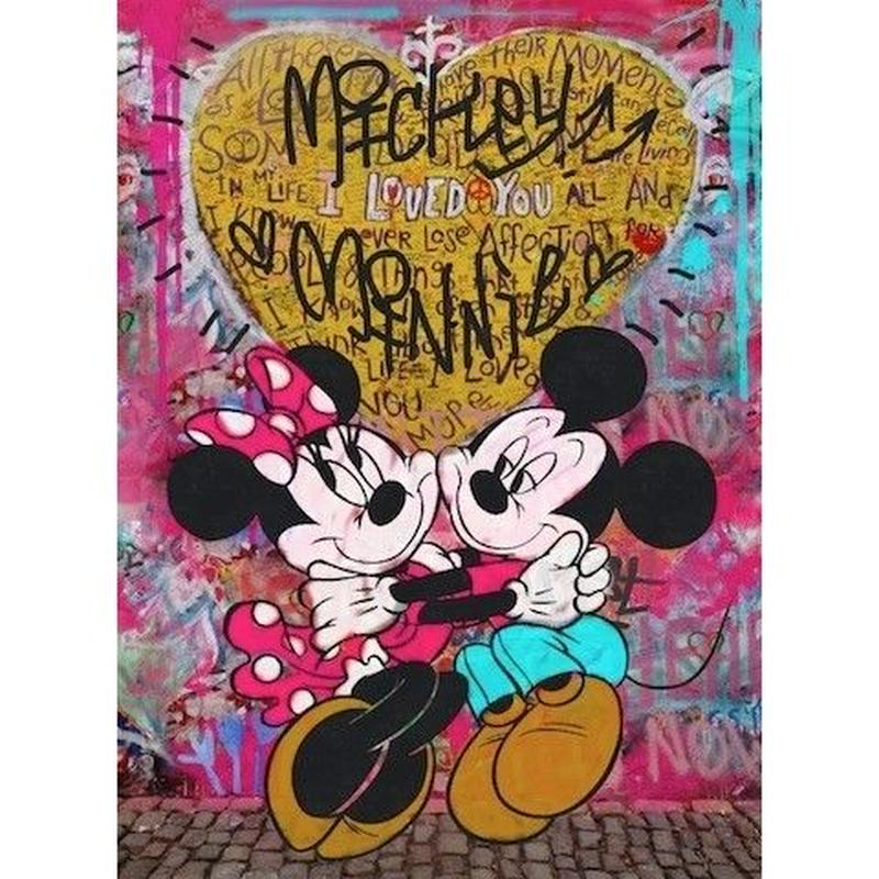 キャンバス530×410×D20mm 【 Mickey&Minnie Lovers #td41 】