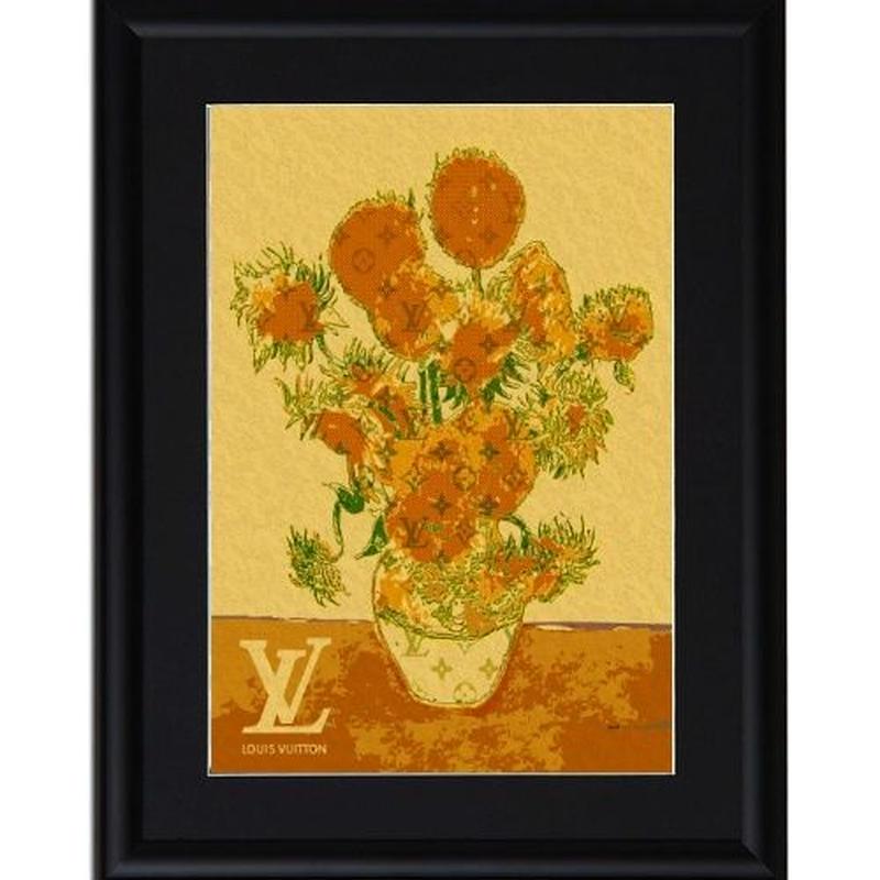 A4 ポスターフレームセット 【Van Gogh Sunflowers #sh10】