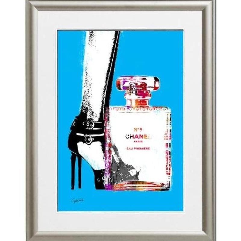 A4 ポスターフレームセット 【 heels and bottle 】