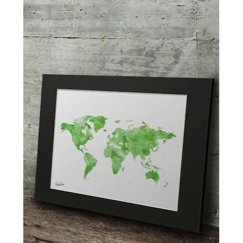 A2 高級マットパネル【 LV WORLD MAP 】