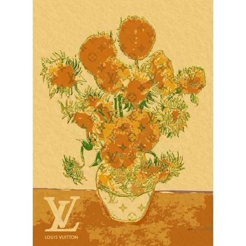 キャンバス530×410×D20mm【Van Gogh Sunflowers #sh10】