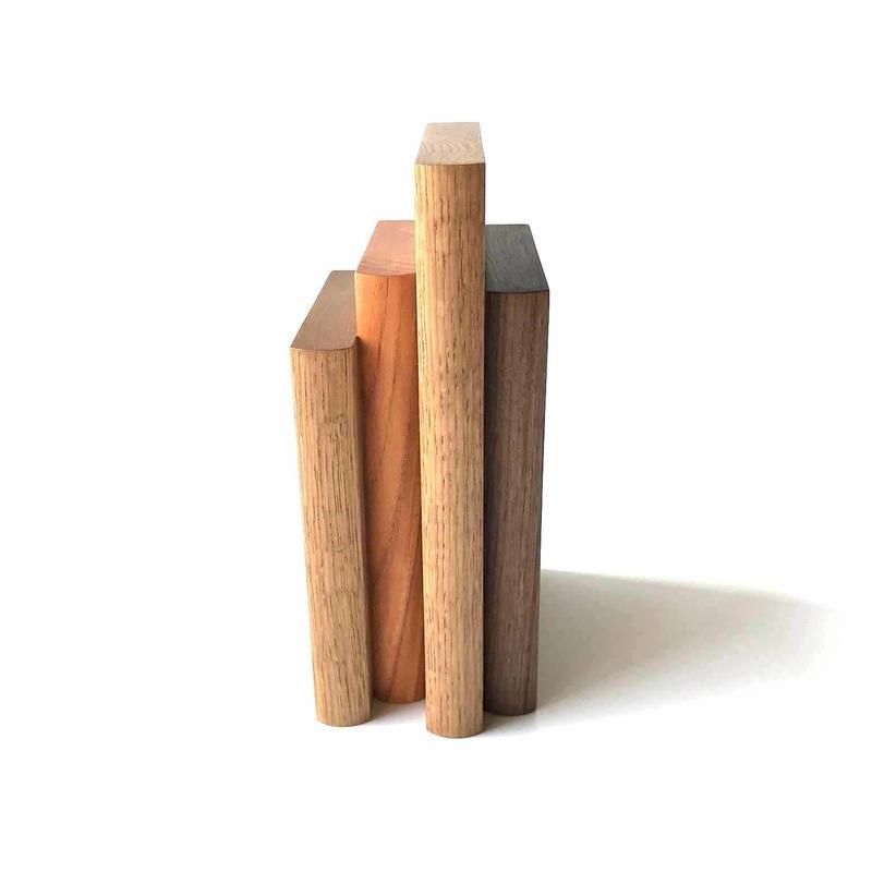 【若い衆シリーズ】Book stand(walnut x1/欅/x1 oakx2) 限定1個 平塚剛史