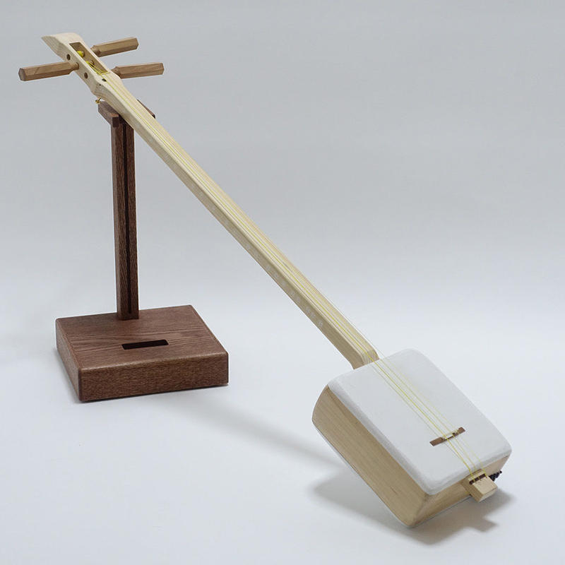 "[29189]  ""Shamiboy"" with a round Azuma-sawari : Casual authentic shamisen: Case,Bachi included"