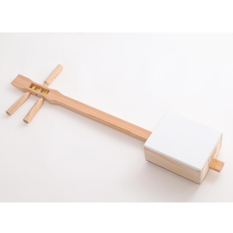 [29002] [Souvenir Shamisen] Shamikomachi  Japanese Cypress · White