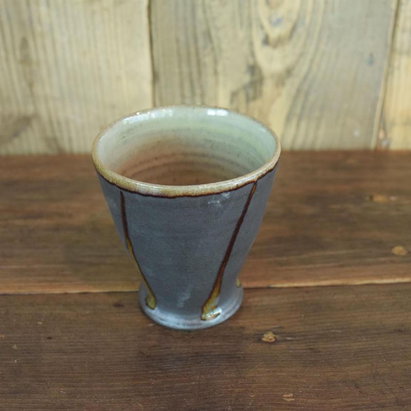 フリーカップ 黒 / 福光焼  D306