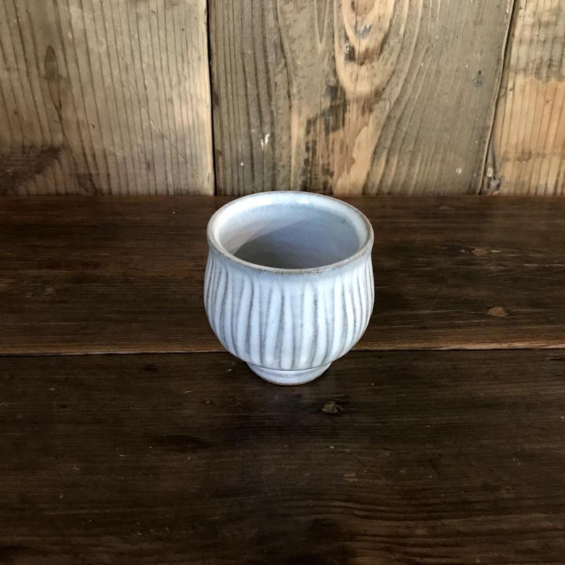 白釉 鎬丸 湯呑  / 延興寺窯 E301