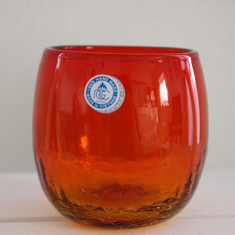 沖縄ガラス グラス赤