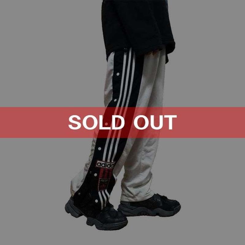 【USED】90'S ADIDAS SNAP TRACK PANTS