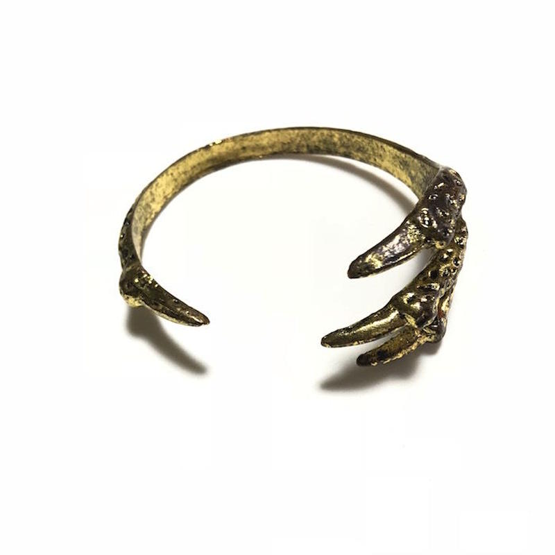 【USED】VINTAGE UNKNOWN CLAW FOOTED BANGLE
