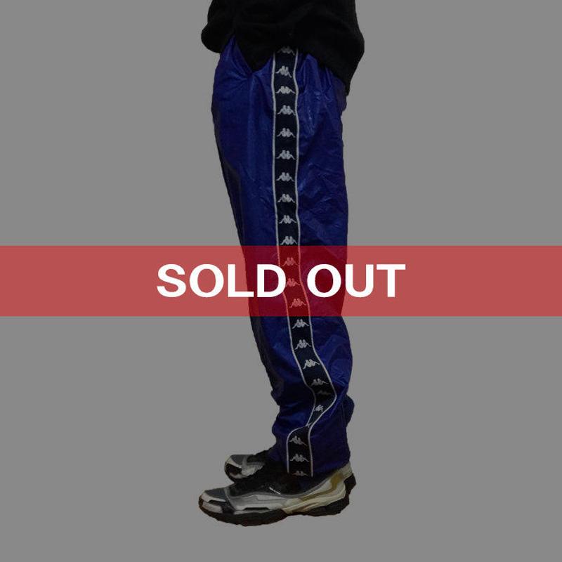 【USED】90'S KAPPA TRACK PANTS METALIC BLUE