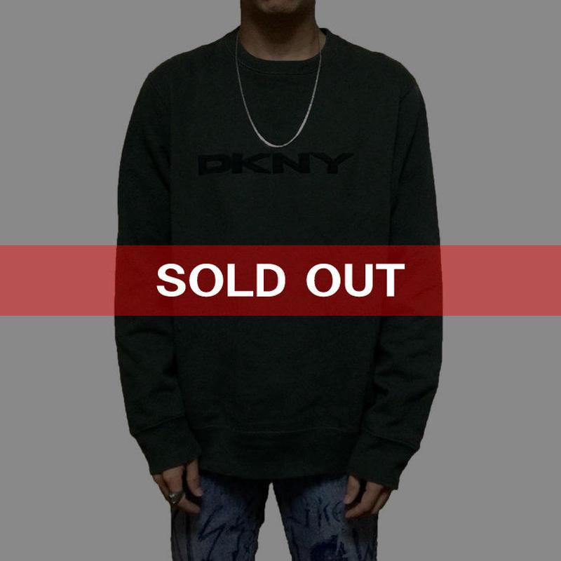 【USED】90'S DKNY LOGO SWEATSHIRT