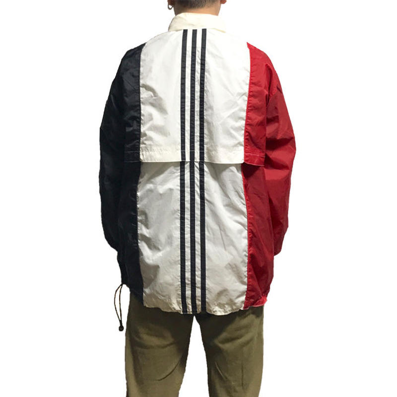 【USED】90'S ADIDAS TRICOLOUR NYLON JACKET