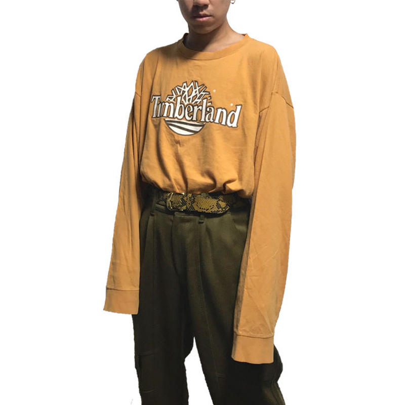 【USED】90'S TIMBERLAND OVERSIZED L/S T-SHIRT
