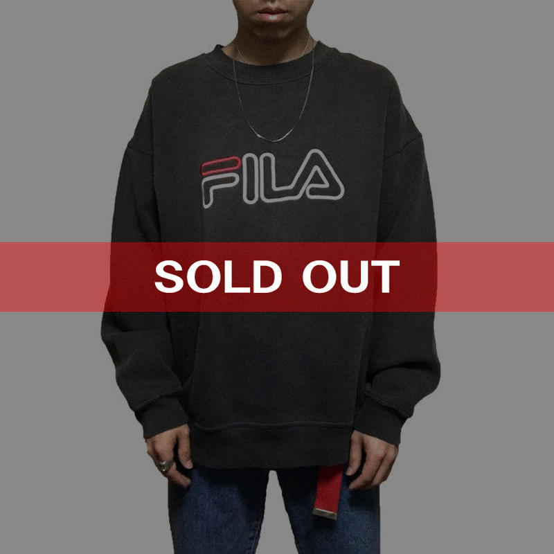 【USED】90'S FILA EMBROIDERY SWEATSHIRT
