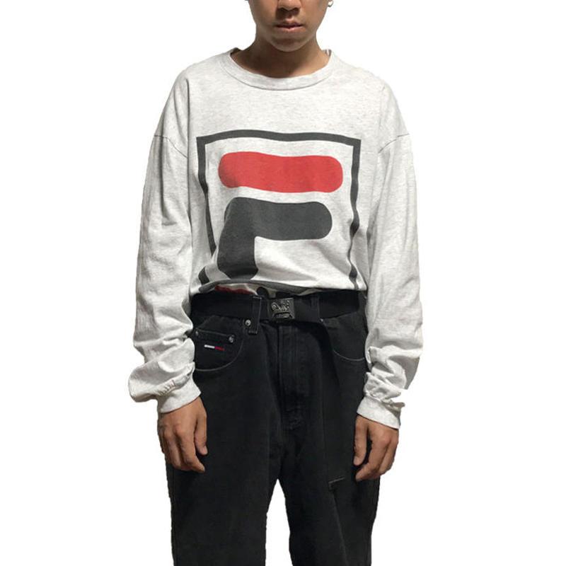【USED】90'S FILA BIG LOGO L/S T-SHIRT