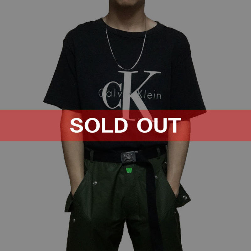 "【USED】90'S CALVIN KLEIN ""CK"" LOGO T-SHIRT"