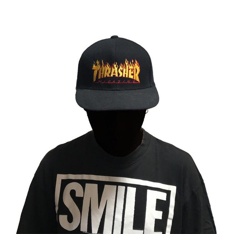 【USED】THRASHER FIRE LOGO CAP