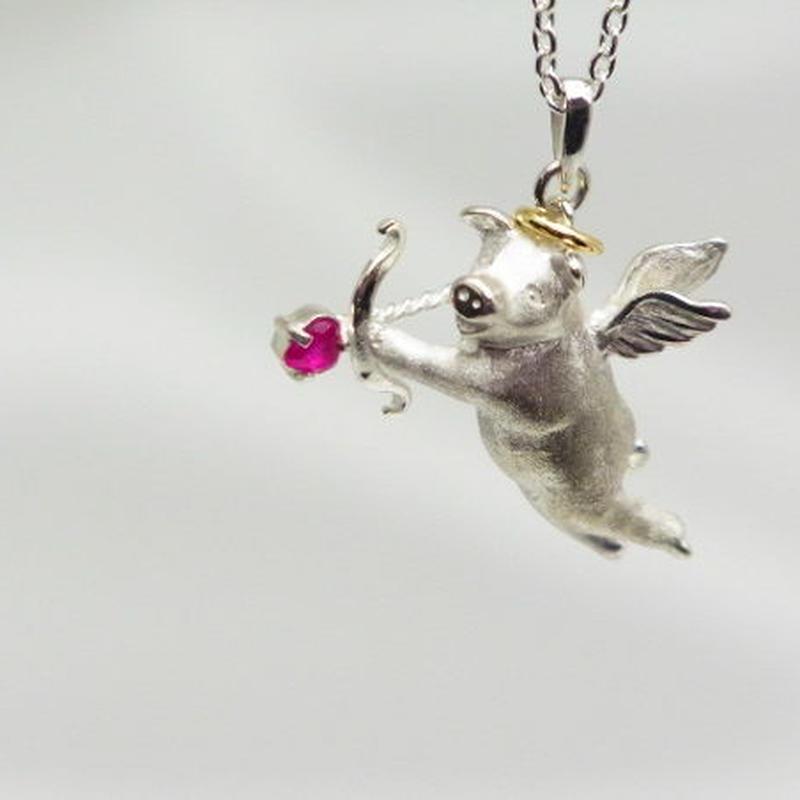 【Cupig】豚のキューピット ネックレス