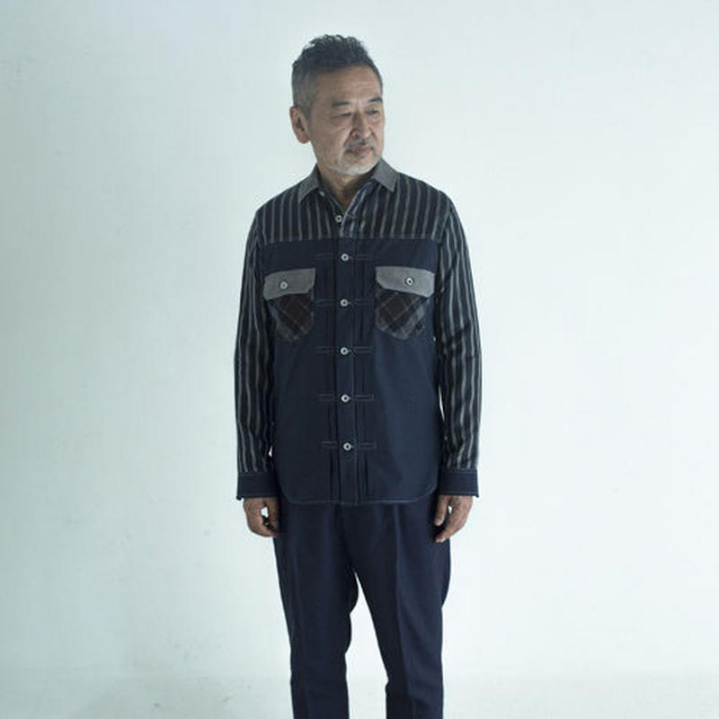 4 textiles Composition 507xx Type Shirt.(Men's SIZE:4)