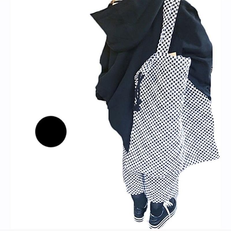 cotobuki  市松キルティング ビッグ巾着バッグ