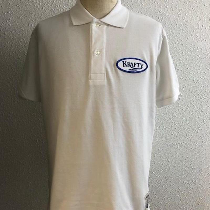 Krafty Cotton Logo Polo WHT