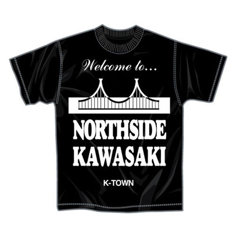"""【再入荷】""""NORTHSIDE KAWASAKI"""" S/S TEE BLACK"""