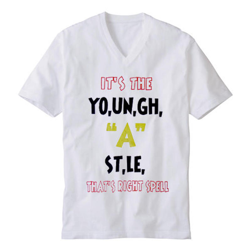 "YOUNG HASTLE ""SPELL MY NAME RIGHT"" V-NECK TEE OLYMPIC"