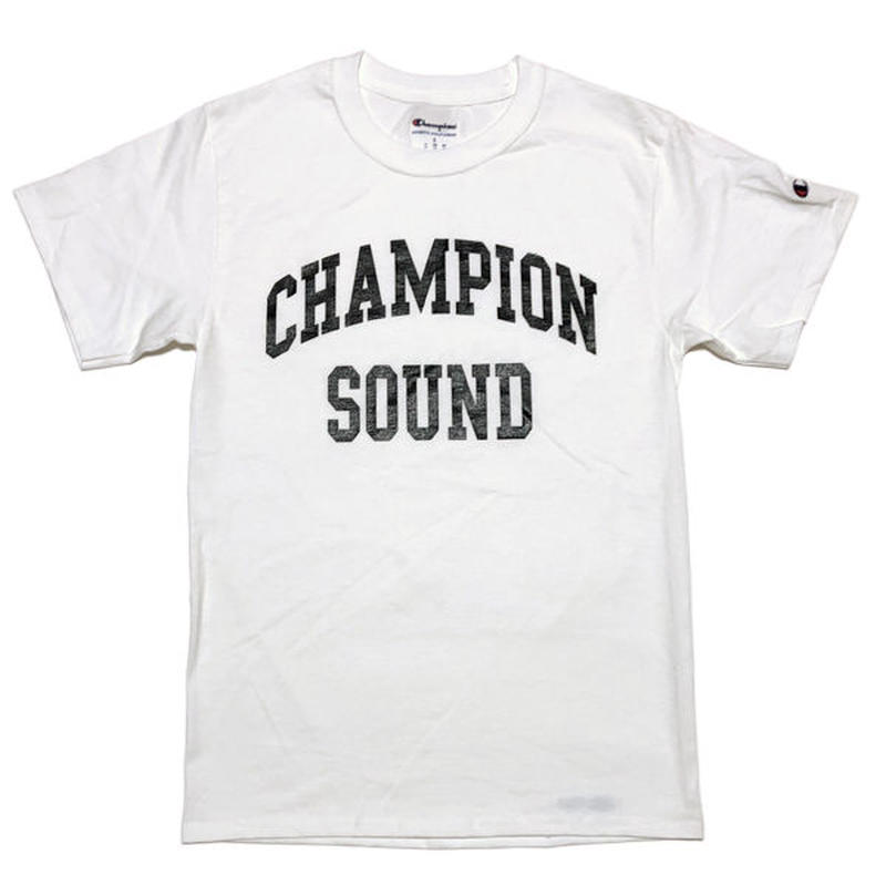 """CHAMPION SOUND"" S/S TEE WHITE"