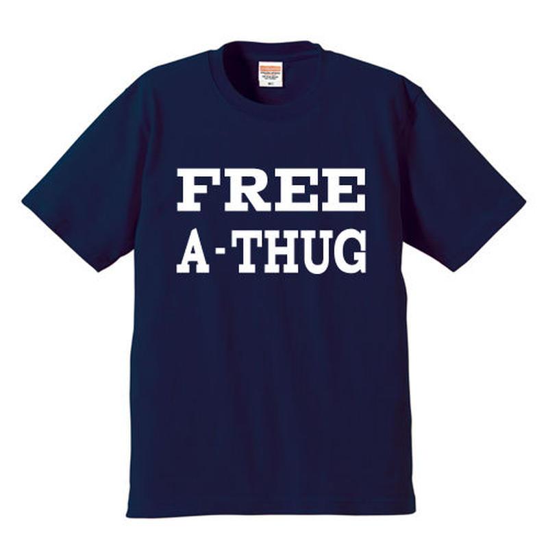 """FREE A-THUG"" S/S TEE NAVY"