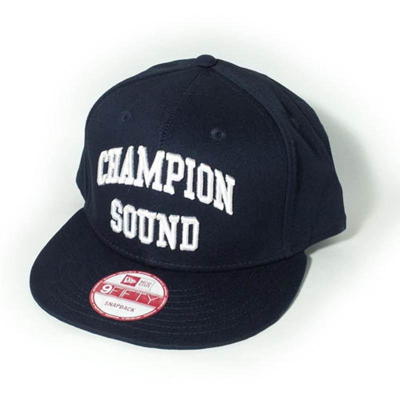"""CHAMPION SOUND"" NEW ERA SNAPBACK CAP NAVY"