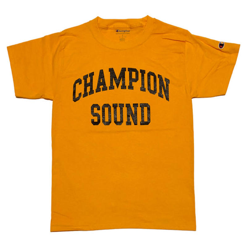 """CHAMPION SOUND"" S/S TEE GOLD"