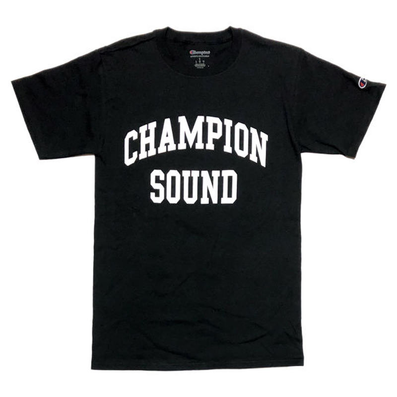 """CHAMPION SOUND"" S/S TEE BLACK"