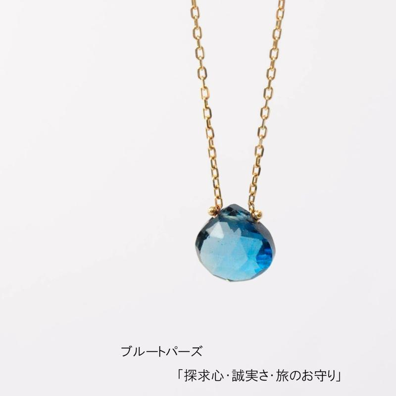 anq. K10 マロンネックレス【誕生石  ギフト】ブルートパーズ