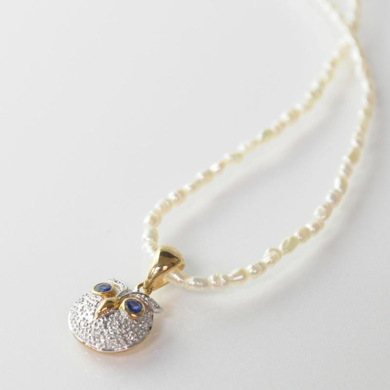 ◇限定◇【LOIS】Owl pearlペンダント