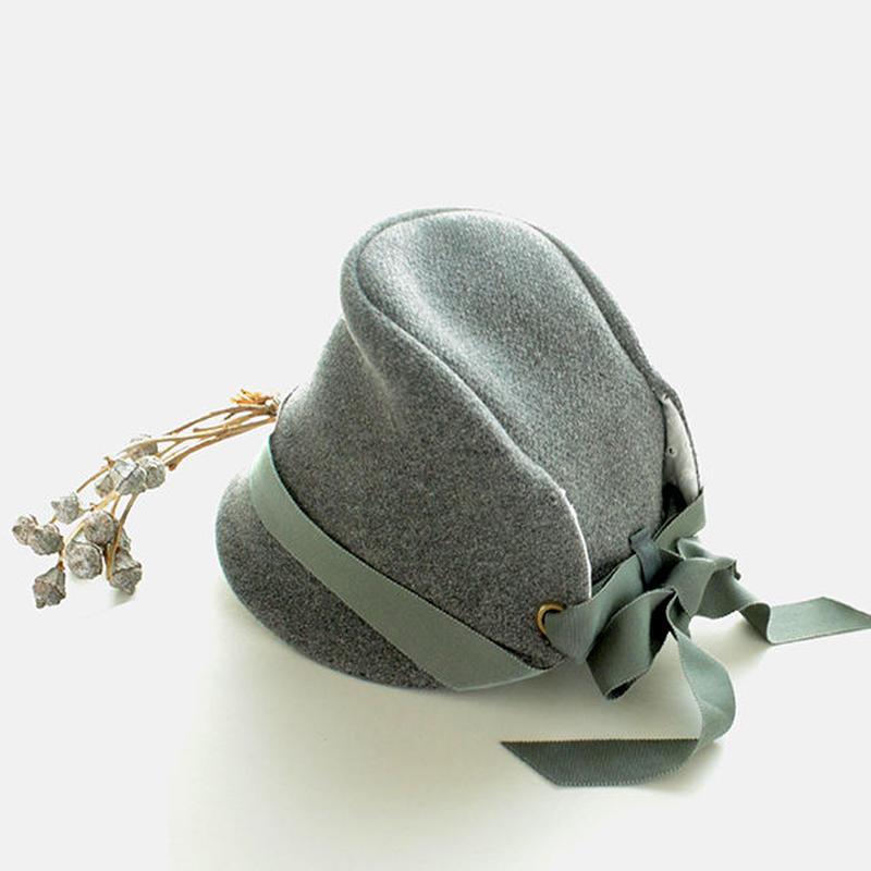 ◇送料無料◇ ウールメルトン帽子 こども用【グレー】