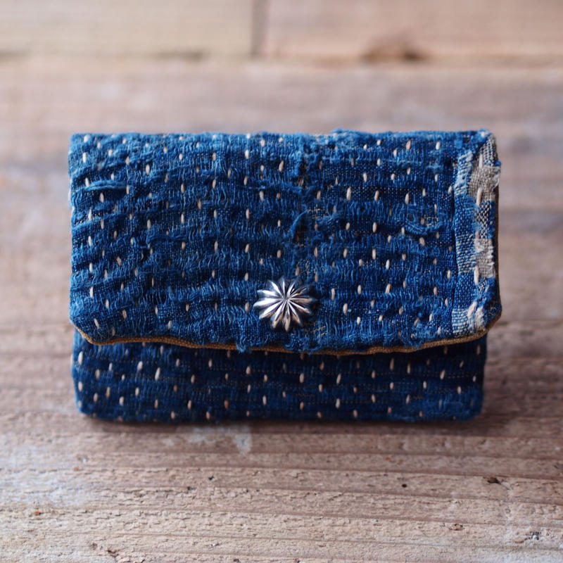 SASHIKO(BORO) CARD CASE CONCHO(JAPAN×USA)