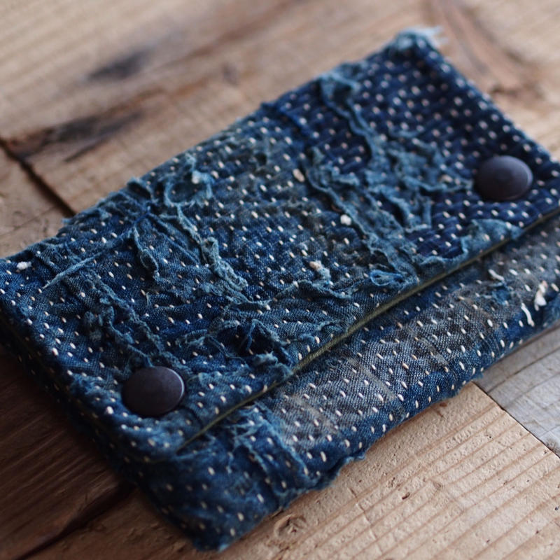 SASHIKO(BORO) MINI PURSE