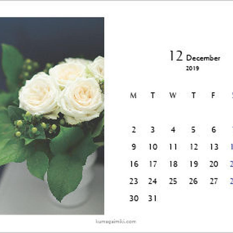 カレンダー2019・ハガキサイズ/calender2019 postcard size