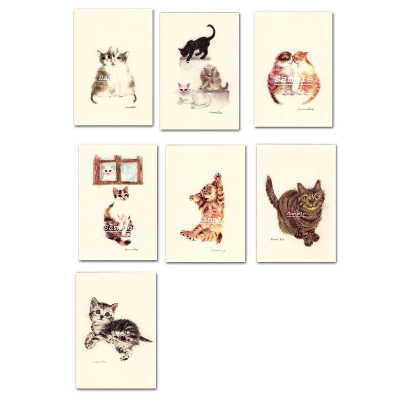 猫ポストカード7枚セット4