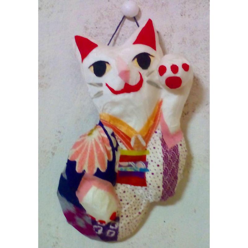 招き猫(左手挙げ)壁掛け No.101
