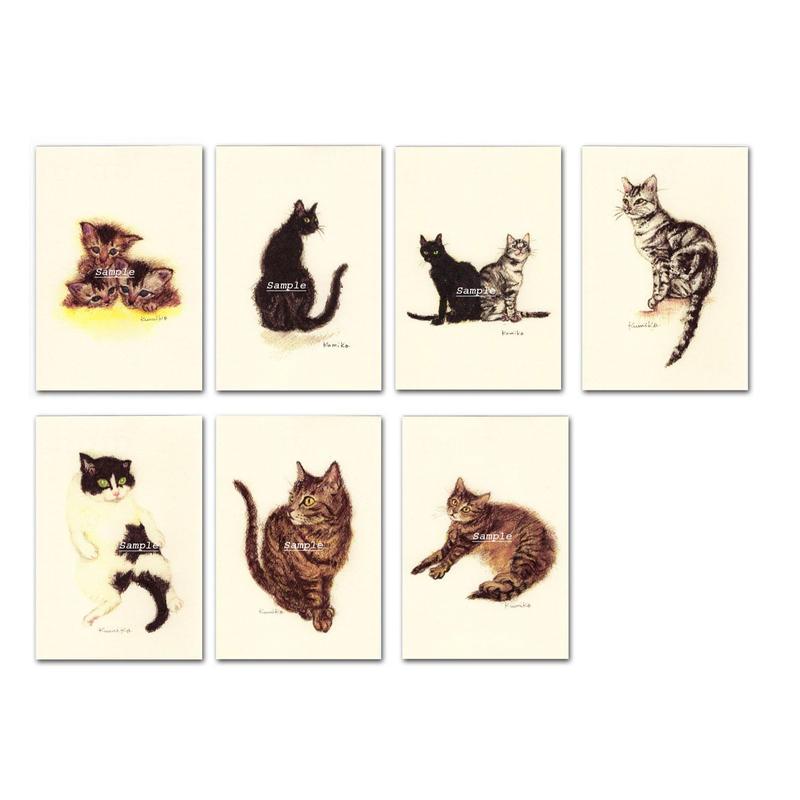 猫ポストカード7枚セット1